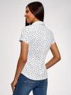 Рубашка хлопковая с коротким рукавом oodji #SECTION_NAME# (белый), 13K01004-1B/14885/1029O - вид 3
