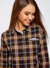 Рубашка принтованная хлопковая oodji для женщины (синий), 11406019/43593/7957C - вид 4