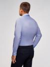 Рубашка приталенная с контрастной отделкой oodji #SECTION_NAME# (синий), 3B140006M/34146N/7079B - вид 3