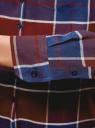 Блузка свободного силуэта с нагрудным карманом oodji для женщины (красный), 21411114/46422/4975C