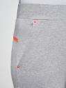 Брюки трикотажные на эластичном поясе oodji для женщины (серый), 16701059B/48302/2000M
