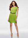 Платье вискозное без рукавов oodji #SECTION_NAME# (зеленый), 11910073B/26346/6B00N - вид 2