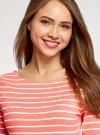 Платье трикотажное базовое oodji #SECTION_NAME# (красный), 14001071-2B/46148/4310S - вид 4