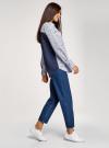 Рубашка принтованная с длинным рукавом oodji #SECTION_NAME# (синий), 13K11022/45202/7910G - вид 6