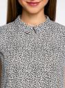 Блузка базовая без рукавов с воротником oodji #SECTION_NAME# (разноцветный), 11411084B/43414/2910F - вид 4