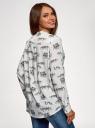Блузка вискозная А-образного силуэта oodji #SECTION_NAME# (белый), 21411113B/42540/1223O - вид 3