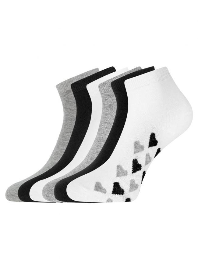 Комплект укороченных носков (6 пар) oodji для женщины (разноцветный), 57102418T6/47469/40