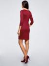 Платье облегающего силуэта на молнии oodji #SECTION_NAME# (красный), 14001105-8B/48480/4903N - вид 3