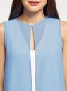 Блузка двуцветная многослойная oodji #SECTION_NAME# (белый), 14901418/46123/1202B - вид 4