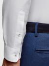Рубашка хлопковая приталенная oodji #SECTION_NAME# (белый), 3B110007M/34714N/1000N - вид 4