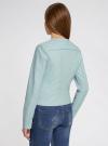 Куртка из искусственной кожи с металлическими стразами oodji #SECTION_NAME# (синий), 18A04010/46542/7000N - вид 3