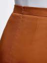 Юбка-карандаш хлопковая oodji #SECTION_NAME# (коричневый), 11600387-3/18854/3100N - вид 5