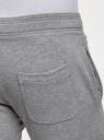 Брюки трикотажные базовые oodji #SECTION_NAME# (серый), 5B230001M/48944N/2301M - вид 5