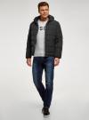 Куртка утепленная с капюшоном oodji #SECTION_NAME# (черный), 1B112006M-1/39877N/2900N - вид 6