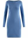 Платье трикотажное облегающего силуэта oodji #SECTION_NAME# (синий), 14001183B/46148/7501N
