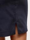 Юбка короткая хлопковая с ремнем oodji #SECTION_NAME# (синий), 11600397B/14522/7900N - вид 4