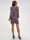 Платье прямого силуэта из струящейся ткани oodji #SECTION_NAME# (синий), 11900150-13/13632/2970F - вид 3
