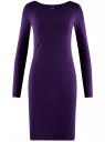 Платье трикотажное облегающего силуэта oodji #SECTION_NAME# (фиолетовый), 14001183B/46148/8800N
