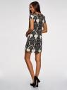 Платье принтованное прямого силуэта oodji для женщины (черный), 21901163/42250/2930E
