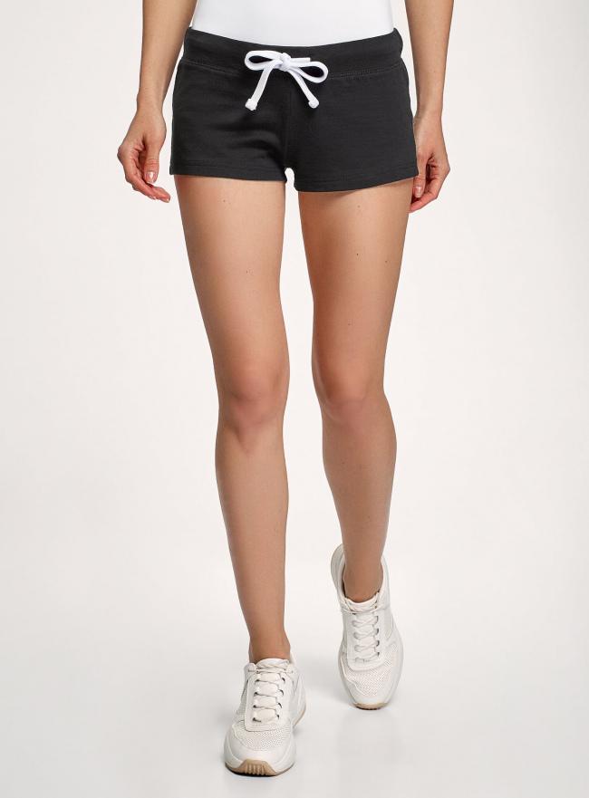 Комплект из двух трикотажных шорт oodji #SECTION_NAME# (черный), 17001029T2/46155/2900N