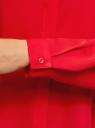 Блузка базовая из струящейся ткани oodji #SECTION_NAME# (красный), 11400368-8B/48854/4500N - вид 5