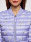 Куртка-бомбер на молнии oodji для женщины (синий), 10203061-2B/42257/7523O - вид 4