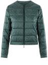 Куртка стеганая с круглым вырезом oodji #SECTION_NAME# (зеленый), 10203072B/46708/6C12G