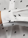 Блузка вискозная А-образного силуэта oodji #SECTION_NAME# (белый), 21411113-1B/48458/1229O - вид 5