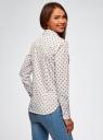 Рубашка базовая из хлопка oodji для женщины (белый), 13K03007B/26357/1252G