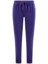 Брюки трикотажные на завязках oodji для женщины (фиолетовый), 16701042-1B/46919/7500N