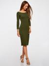 Платье облегающее с вырезом-лодочкой oodji для женщины (зеленый), 14017001-6B/47420/6800N - вид 6