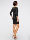 Платье с металлическим декором на плечах oodji #SECTION_NAME# (черный), 14001105-3/18610/2900N - вид 3
