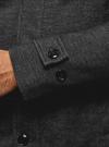 Пальто однобортное с воротником-стойкой oodji #SECTION_NAME# (серый), 1L312002M/48524N/2300N - вид 5