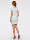 Платье из фактурной ткани с вырезом-лодочкой oodji #SECTION_NAME# (зеленый), 14001117-11B/45211/6500N - вид 3