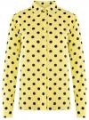 Блузка вискозная прямого силуэта oodji #SECTION_NAME# (желтый), 11411098-3/24681/5029D