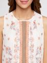 Платье шифоновое с платочным принтом oodji для женщины (белый), 21900320/42840/1266E
