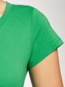 Футболка базовая из хлопка oodji для женщины (зеленый), 14701008B/46154/6A00N