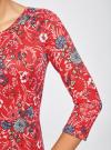 Платье трикотажное с вырезом-капелькой на спине oodji #SECTION_NAME# (красный), 24001070-5/15640/4530F - вид 5