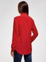 Блузка прямого силуэта с нагрудным карманом oodji #SECTION_NAME# (красный), 11411134-1B/48853/4500N - вид 3