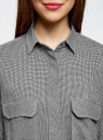 Рубашка в мелкую графику с карманами oodji #SECTION_NAME# (серый), 21441095/43671/2912G - вид 4