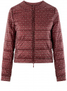 Куртка стеганая с круглым вырезом oodji #SECTION_NAME# (красный), 10203072B/46708/4912G