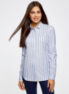 Рубашка приталенного силуэта в полоску oodji #SECTION_NAME# (синий), 11401255/45668/7010S - вид 2