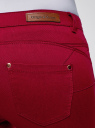 Джинсы зауженные базовые oodji для женщины (красный), 12104059B/45491/4500N