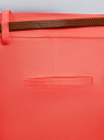 Брюки летние с ремнем oodji #SECTION_NAME# (красный), 11703057-7/19887/4300N - вид 5