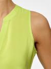 Топ вискозный с V-образным вырезом oodji для женщины (зеленый), 11411105B/39658N/6A00N - вид 5