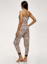 Пижама хлопковая с отделкой кружевом oodji для женщины (бежевый), 56002240/46147/3337E