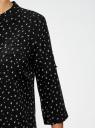 Блузка вискозная с регулировкой длины рукава oodji #SECTION_NAME# (черный), 11403225-3B/26346/2912G - вид 5