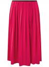 Юбка в складку с запахом oodji #SECTION_NAME# (розовый), 13G00003B/42662/4700N