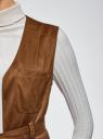Жилет удлиненный из искусственной замши oodji для женщины (коричневый), 18C03001/45778/3700N