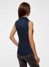 Рубашка базовая без рукавов oodji для женщины (синий), 11405063-6/45510/7900N - вид 3
